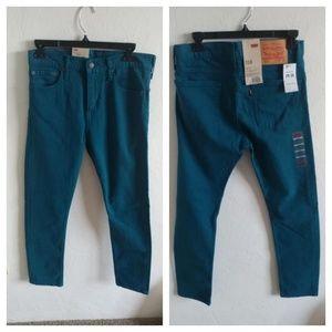 NWT Levi 510 Teal Jeans 29W 30L